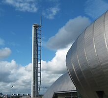 Glasgow Imax and Tower by MariaBowskill