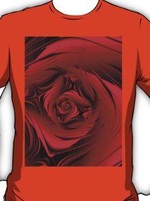 Red Fractal Rose T T-Shirt