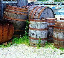 Still Life with Barrels by RC deWinter