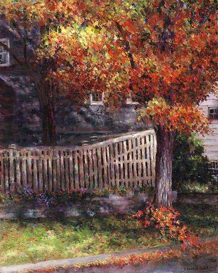 Dappled Fence by Susan Savad