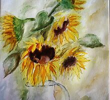Sunshine, Watercolor painting by Esperanza Gallego