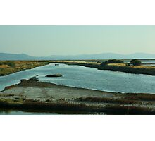 Salt Marshes on the Island of Lesvos Photographic Print