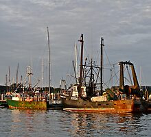 """Fishing Boats"" - Newport Harbor, Rhode Island - © 2009 by Jack McCabe"
