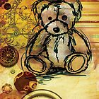 Button bear by Narelle Craven