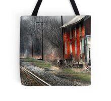 """Standing Trackside"" Tote Bag"