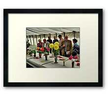 The Show Marquee at Hawkesbury Upton Horticultural Show. Framed Print