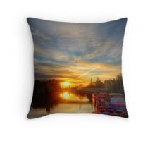 Sunset over Lendal Bridge, York Throw Pillow