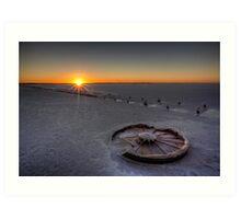 Barren Sunset • Lake Hart • South Australia  Art Print
