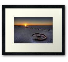Barren Sunset • Lake Hart • South Australia  Framed Print