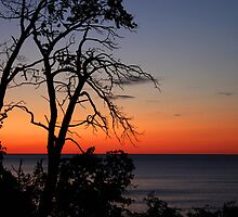 sunset on lake superior by Lynne Prestebak
