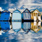 Beach huts at Southend by Sheila  Smart