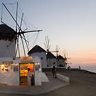 Mykonos Windmills by InterfaceImages