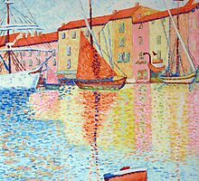 Red Buoy, Study of Paul Signac. by Beth A