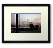 Yachts and Pots Framed Print