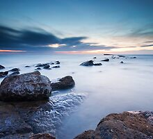 Waiting for the Sun, Filey Brigg by Photomh