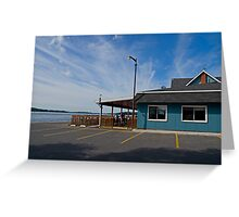 The Blue Anchor Bar and Grill Greeting Card