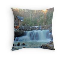 Sunset on Glade Creek Throw Pillow