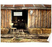 Shed and Chairs Poster