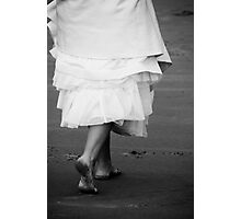 walking into her new life... one filled with love Photographic Print