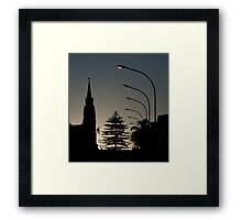 Small-town silhouette Framed Print