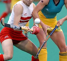 Female  Hockey Stars:  England V Australia  by Peter  Downing