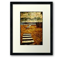 Pathway to the sea II Framed Print