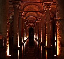 Underground area in Istanbul used to store water   by dhphotography