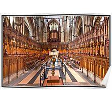 York Minster an altar view Poster