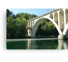 Jonction bridge Canvas Print