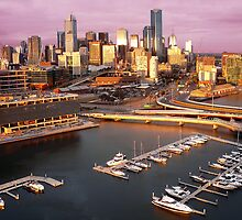 Sunset, Melbourne Docklands by Roz McQuillan