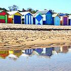 Bathing Boxes, Brighton Beach by Roz McQuillan