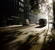 1997 Early Morning Bus PS5 by Fred Mitchell