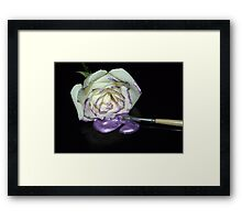 A Touch of Purple-The Painters Palette Framed Print