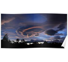 Lenticular Cloud Formation Poster