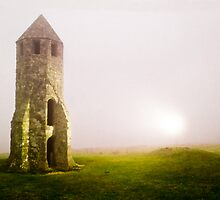 Ancient Light house in the mist by DavidYates
