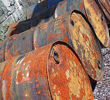 Rusty Barrels by Claire Brannan