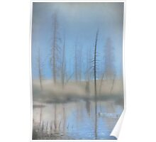 Tree Skeletons at Dawn.  Yellowstone National Park. Wyoming. USA. Poster