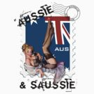 The Kitsch Bitsch : Aussie & Saussie Pin-Up by TheKitschBitsch