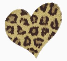 Heart Jaguar Print Long Sleeve Shirt by Linda Allan