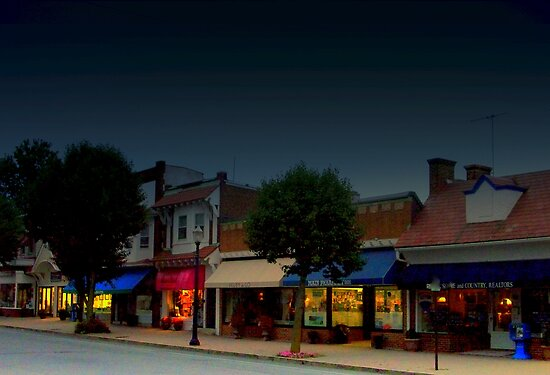 Spring Lake Main Street  by Rick  Todaro