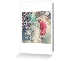 Pelting down Greeting Card