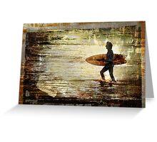 Vintage Surf Greeting Card