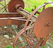 Old Portable Saw Mill by Wanda Raines