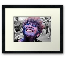 A colourful character Framed Print