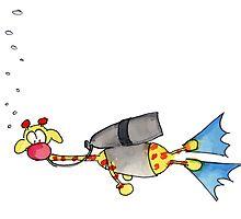 My Diving Giraffe by Caroline Istas