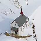 Skiers Chapel - Swiss Alps by John Miner