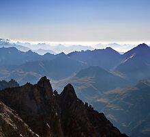 View from Aiguille du Midi by StefaniaBarbier