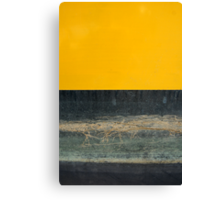 Yellow on Blue Canvas Print