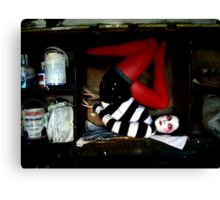 She lives in a box Canvas Print