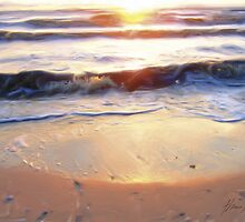 Little Waves at Sunset by Thomas Pohlig